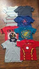LOT BOYS Short Sleeve T Shirts GAP Tommy Marvel Nike Angry Birds Size Small 6/7