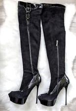 Gianmarco Lorenzi high heels over the knee thigh overknee stiletto boots 37 7