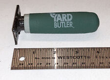 Rotating crank handle for Yard Butler hose reel. Rubber grip