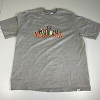New York City T-Shirt Size 2XL XXL Gray NYC Casual Tee Graphic Jerzees Mens Camp