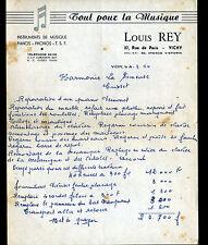 """VICHY (03) Atelier PIANO MUSIQUE PHONO T.S.F. """"Louis REY"""" en 1954"""