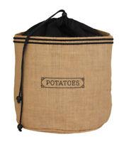 New PANTRY Hessian Potato Preserving Bag Sack Storage Jute Blackout Lining