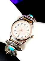 FABULOUS SOUTHWEST TRADITIONS CONCHO STYLE STERLING SILVER LADIES WATCH BRACELET