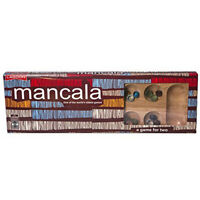 Classic Mancala Set - Traditional Wooden Board Game For All The Family