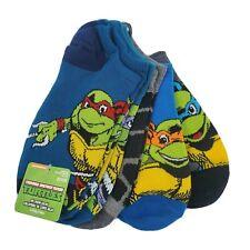 5 Pair Teenage Mutant Ninja Turtles No Show Socks, Shoe Size 3-9, L, TMNT S7 (M)