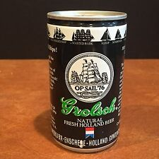 Vintage Grolsch Pull Tab Beer Can Holland c. 1960s