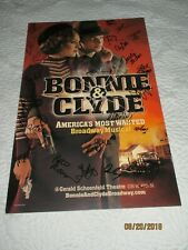 "BROADWAY WINDOW CARD CAST SIGNED-""BONNIE AND CLYDE""-"