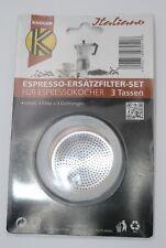 Karl Krüger 1 Filter 3 ringe für Espressokocher (3) (neu)