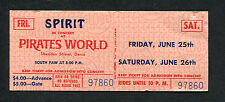 1971 Spirit unused full concert ticket Dania FL Pirates World Randy California
