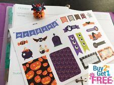 PP119 -- Cute Halloween Weekend Life Planner Stickers for Erin Condren (22pcs)