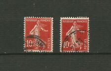 Timbres rouges avec 10 timbres