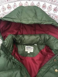 JACK WILLS - Green - Down Fill - Hooded - Puffer Jacket - M