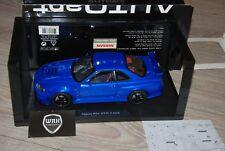 NISSAN SKYLINE R34 GTR Z TUNE BAYSIDE BLUE Autoart TOP!! 1/18 SEE INFO