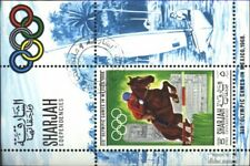Sharjah miniature sheet 40 (complete issue) used 1968 olympic.