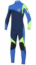 RIP CURL Youth 3/2 FLASH BOMB Zip Free Wetsuit - BLUE  Size 12, 14  FBOMB