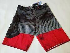 NBN Gear Mens Gray Multicolor Drawstring Board Shorts Size 30 NEW