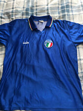 Italy Home Shirt 1986-Italia 1990 Diadora azzurri world 1990 vialli baggio