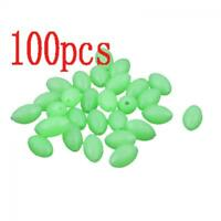 Useful 5mm X 3.4m Glow In The Dark Oval Shaped fishing Lures Luminous Beads