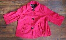 Lane Bryant Red Jacket Coat Womens Size 22
