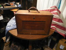 Vintage Tiger Oak Wood Machinist Tool Chest With Lots of Machinist Tools