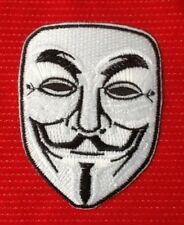 GUY FAWKES ANONYMOUS V FOR VENDETTA DRAMA THEATRICAL MASK IRON SEW ON PATCH