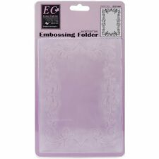 Ecstasy Crafts Embossing Folder ~ Elegant Frame Size 5 x 7, ECF1001 ~ NIP