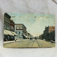 Vtg Postcard Choctaw Ave Looking East Mc Alester Oklahoma View 1916