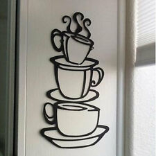 DIY House Hotel Restaurant Kitchen Decor Coffee Cup Design Wall Sticker