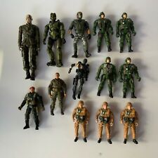 Toy Soldier Action Figures Military Camouflage Army Lot of 13 Figures