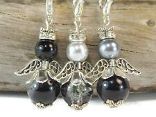 9 Engel Anhänger Bastelset Engel schwarz Perlenengel Gastgeschenk Glücksbringer