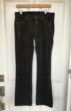 NEW! SEVEN for all Mankind U075340S Bootcut Stretch Velvet Jean Pants, 31 - Gray