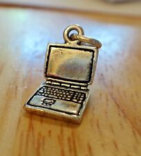 Sterling Silver 3D 14x8mm Small Computer Laptop Charm