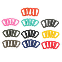 5x Buckle Key Chain D-Ring Snap Plastic Clip Hook Outdoor Carabiner Camp