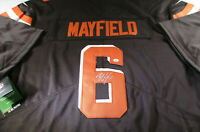 BAKER MAYFIELD / CLEVELAND BROWNS QB / HAND SIGNED BROWNS PRO STYLE JERSEY / COA