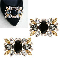 2x Crystal Shoe Clips Removable Wedding Shoe Buckle Clip Shoe Charms Accessories
