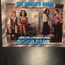 Super Mario Bros. 1993 Trading Cards Single Card 40 'THE WOMEN'S DORM' Good Cond