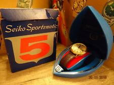SEIKO 5 SPORTSMATIC D/D DIASHOCK SILVER DIAL 6619 8050 21J 5/65 BOX BAND SERVICE