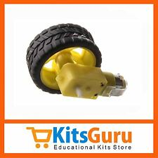 (1Pcs) BO GEARED MOTOR + (1Pcs) Superior Quality Wheel KG400