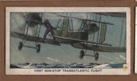 1919 First Non-Stop Transatlantic Flight Pilots Alcock Brown Vintage Trade  Card