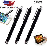 3 Pack Universal Black Touch Screen Pen Metal Stylus Fr iPhone 8 7 iPad Samsung