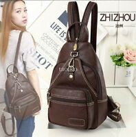 New Stylish Womens Leather Back Pack Bags Rucksack Travel School Retro Small Bag