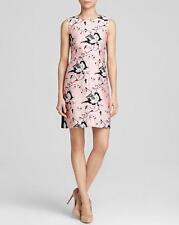 Diane von Furstenberg Pink Black Simple Toile Silk DVF Carrie Dress $398 NWT 14