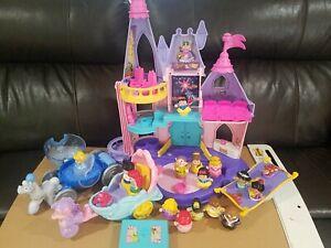 Little People Disney Princess Castle w/ Cinderella Ariel Tiana Belle w/ Carriage