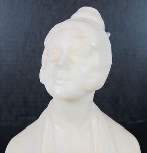 Antique c 1920 Margarete Becking Alabaster Bust Statue Hessian Art Workshops yqz