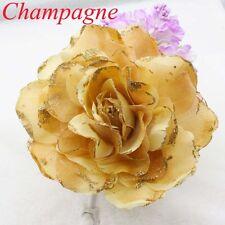 NEW 15CM Corsage Hairband Wrist Flower Wedding Party Champagne Rose Headdress
