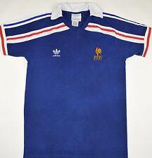 1985-1990 FRANCE ADIDAS HOME FOOTBALL SHIRT (SIZE L)