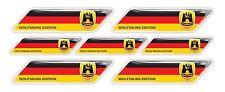 Wolfsburg Edition Germany flag 3d domed emblem decal sticker VW Volkswagen GOLF
