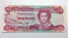3 Münzen Papiergeld Welt Brilliant Bahamas 1 Dollar 1968 Pick 27a
