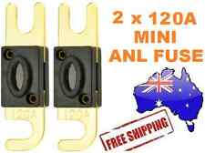2 x 120AMP Mini ANL Fuse for Car Amplifier Wiring Kit Fuse Holders 120A Midi AFC
