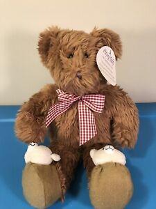 "VINTAGE 1999 Avon Exclusive KIDS PRAYING TEDDY BEAR 13"" w TAG NEW - SEE VIDEO!"